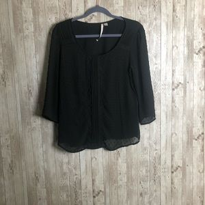 Sheer Blouse Partially Lined